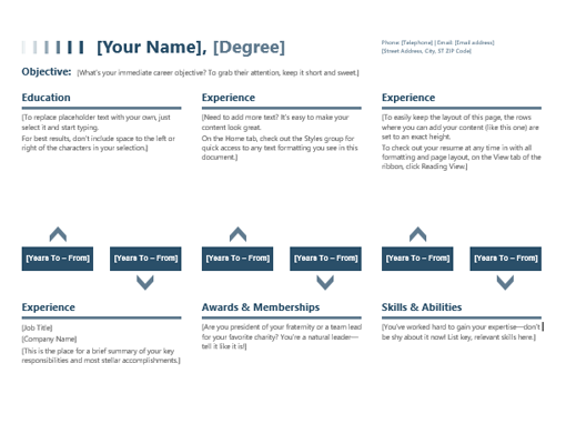 resume timeline office templates