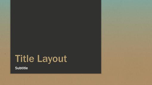Blue-tan gradient presentation (widescreen)