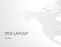 World maps series, North America presentation (widescreen)