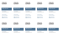 Business cards, vertical layout with logo (10 per page)