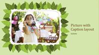 Family photo album (green leaf nature design)
