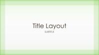Sheer green border design presentation (widescreen)