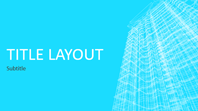 Business wireframe building presentation (widescreen)