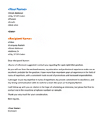 Functional resume cover letter (matches functional resume)