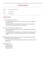 How to Design an Agenda Template