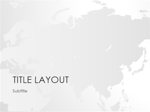 World maps series, Asia presentation (widescreen)