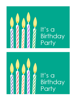 Birthday invitation postcards