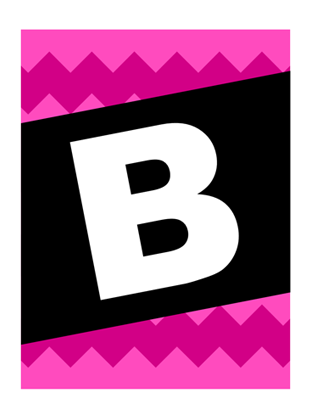 Bon Voyage banner - graphic pattern