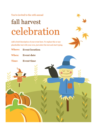 Fall flyer office templates fall flyer toneelgroepblik Choice Image