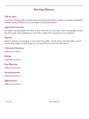 ... templates minutes word online template meeting minutes orange design