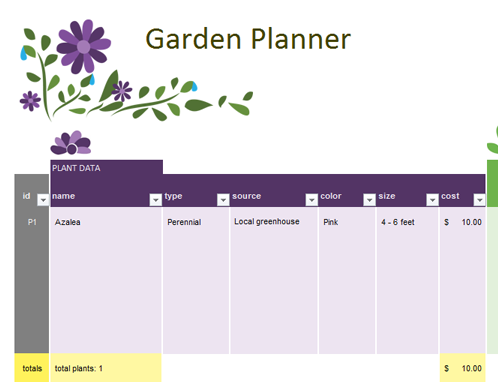 Garden planner Office Templates
