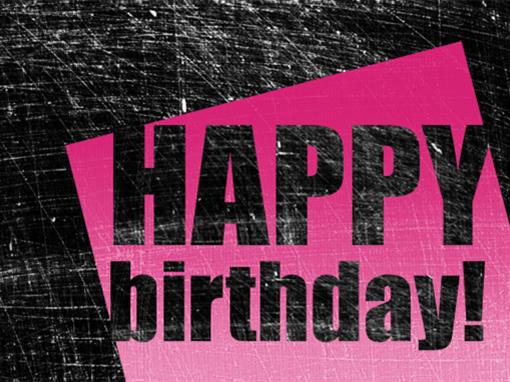 birthday card scratched background pink black half fold