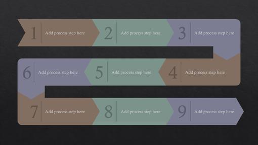 Process path infographic (Slate theme, widescreen)