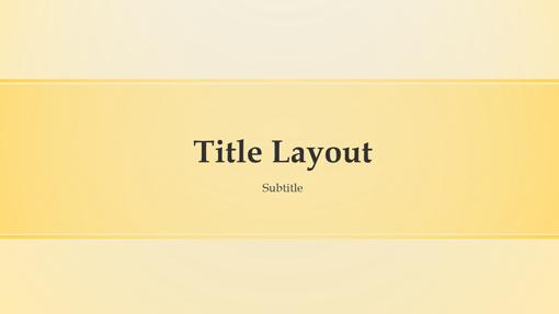 Yellow banded design presentation (widescreen)