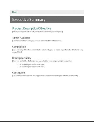 Executive summary Word