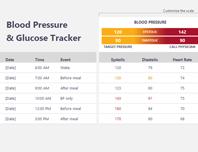 Blood pressure and glucose tracker