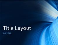 Business digital blue tunnel presentation (widescreen)