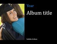 Graduation photo album, black (widescreen)