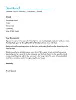 resume cover letter - Cover Letter Letterhead