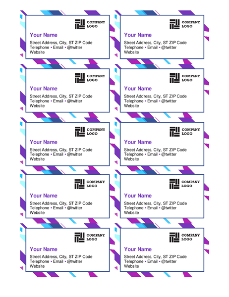 Purple graphic business cards
