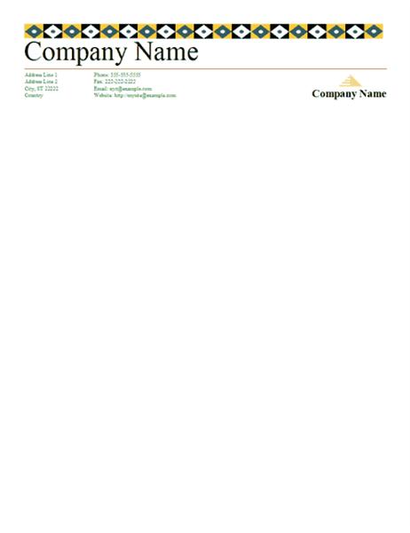 Letterhead (Accessory design)