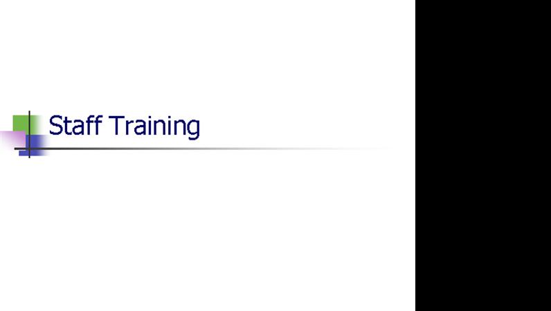 Présentation de la formation du personnel