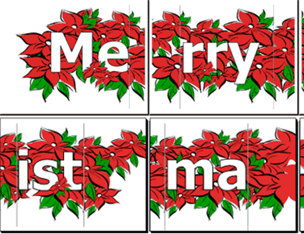 photo relating to Printable Christmas Letters named Merry Xmas banner (with poinsettia)