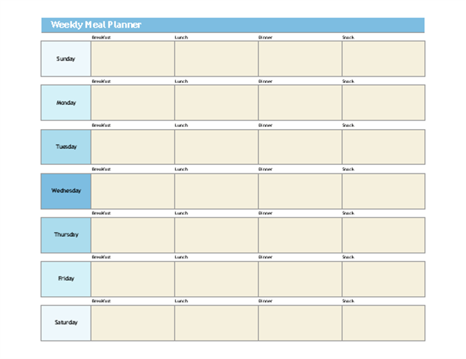 photo regarding Weekly Plans Template identified as Uncomplicated supper planner