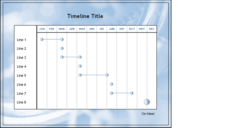 Timeline for multi-tiered twelve-month project