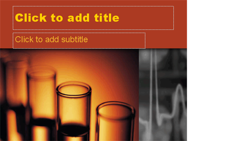 Glowing test tubes design slides