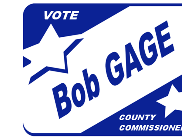 Election sign for window