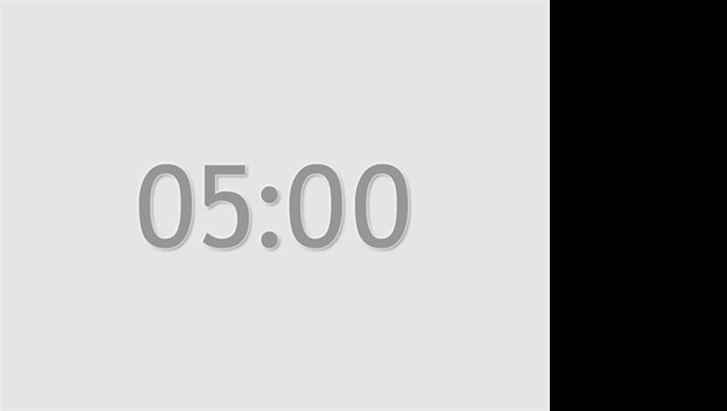 Five minute timer slide (grey)