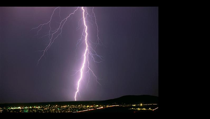 Lightning strike image slide