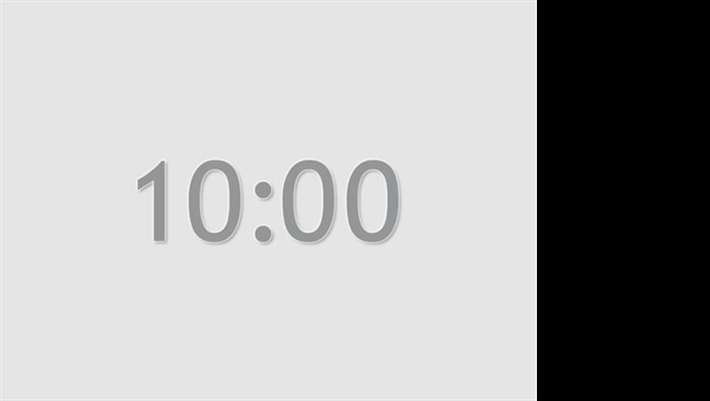 Ten minute timer slide (grey)