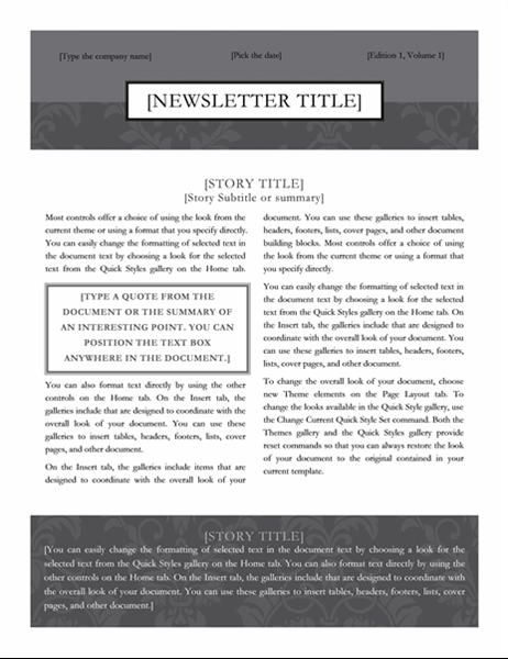 Bulletin (création Cravate noire)