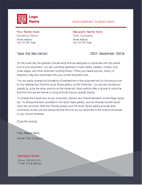 business letter  apothecary design