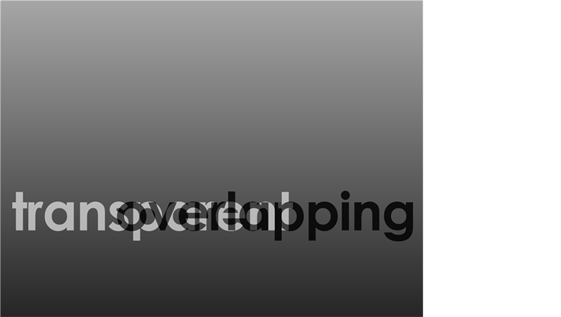 Overlapping transparent text