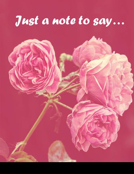 Romance card (quarter-fold)