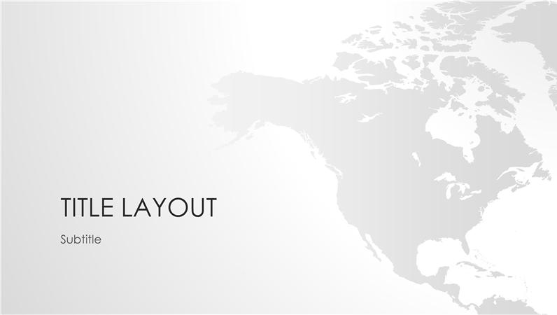 World maps series, North American continent presentation (widescreen)
