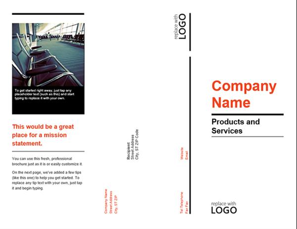 Tri-fold brochure (Red and Black design)