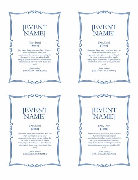 Invitation à un événement (4/page)