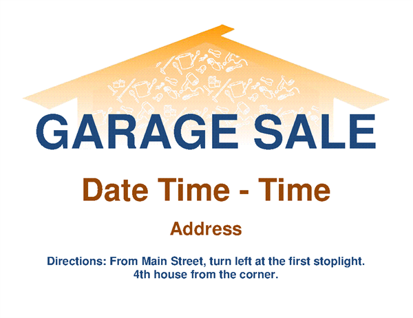 picture about Printable Garage Sale Price List named Garage sale flyer