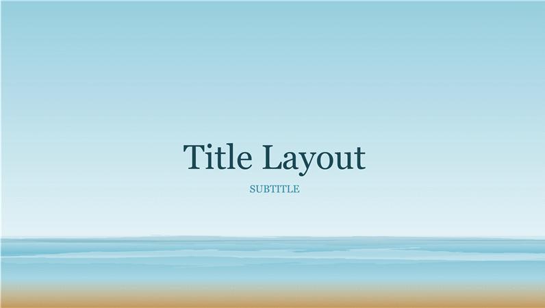 Ocean painting presentation (widescreen)