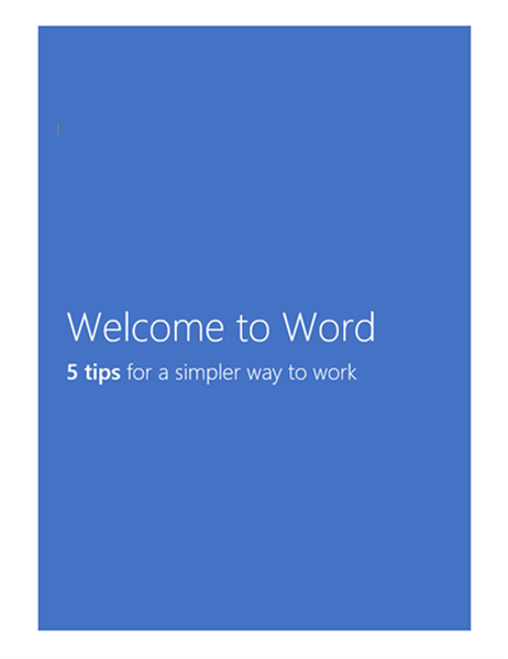 Welcome to Word 2013