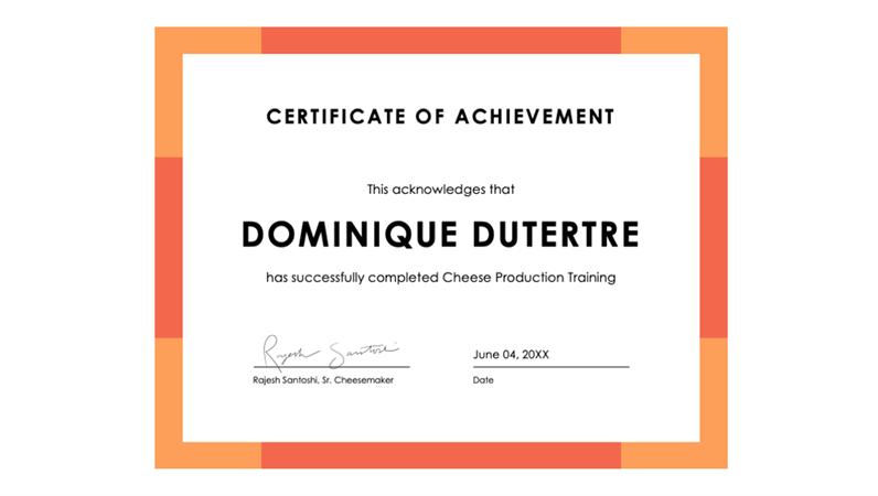 Certificate Of Achievement Blue