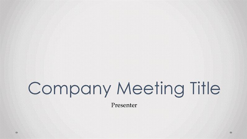 Company meeting presentation