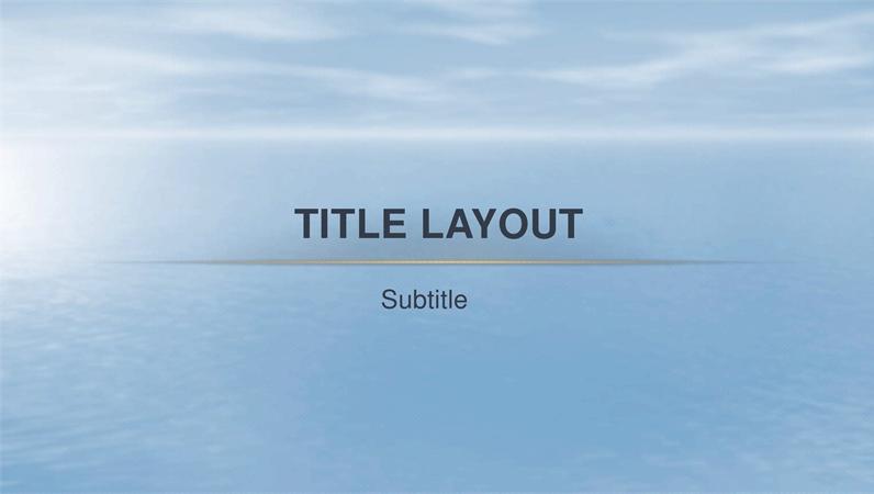 Ocean design template