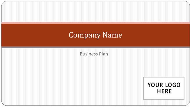 Business plan presentation (widescreen)