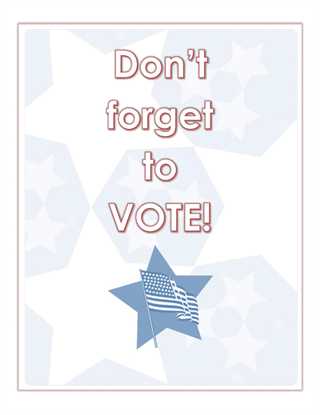 Don't forget to vote sign or decal