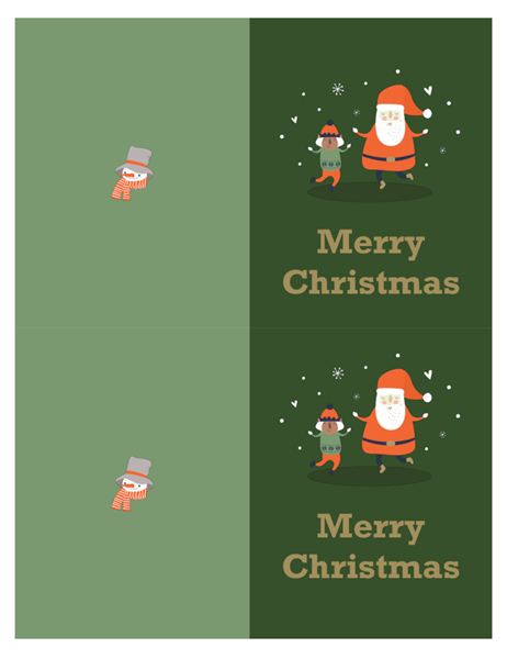 Christmas Card Design.Christmas Cards Christmas Spirit Design 2 Per Page For